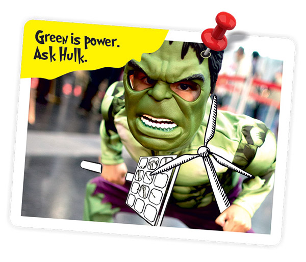 Green is Power. Ask Hulk