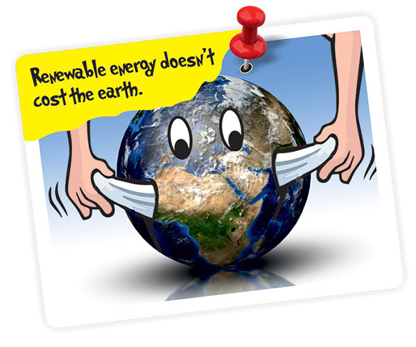 Renewable energy doesn't cost the earth