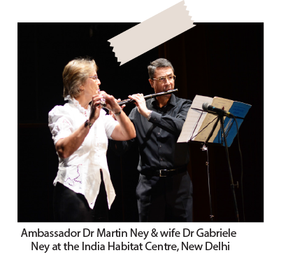 Ambassador Dr. Martin Ney with wife Dr Gabriele Ney at India Habitat Centre, New Delhi