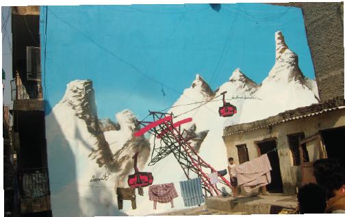 Ski Resort Khirki, Artist- Loomit, Location- Khirki Village, New Delhi