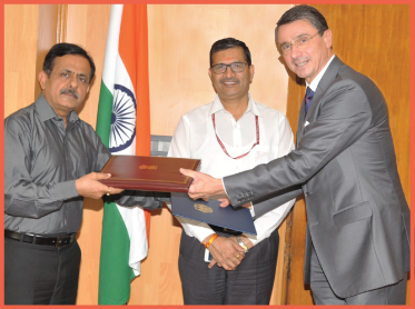 Ambassador Dr Martin Ney and Naveen Kumar Shukla, the Ministry of Railways'
