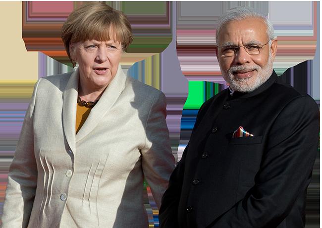 Chancellor Angela Merkel and PM Narendra Modi at the Hannover Trade Fair (2015)