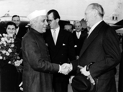 Prime Minister Jawaharlal Nehru and Chancellor Konrad Adenauer (1956)