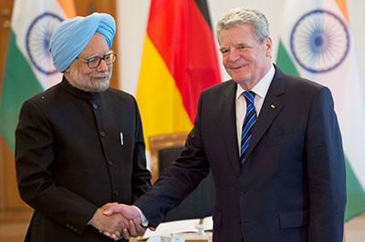 Prime Minister Manmohan Singh and President Joachim Gauck (2013)