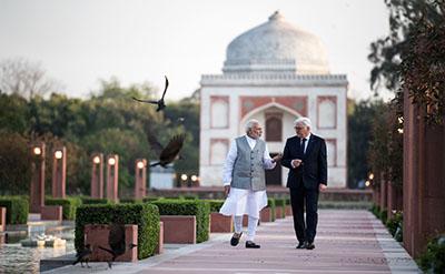 Prime Minister Narendra Modi and President Frank-Walter Steinmeier (2018)