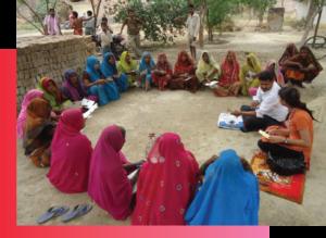 SIDBI's microfinance beneficiaries in a meeting